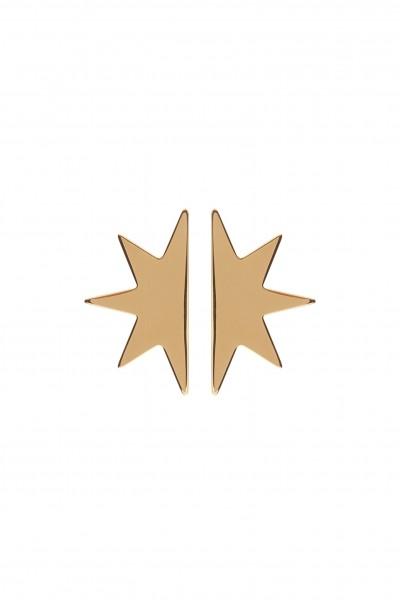 Half Star Earrings