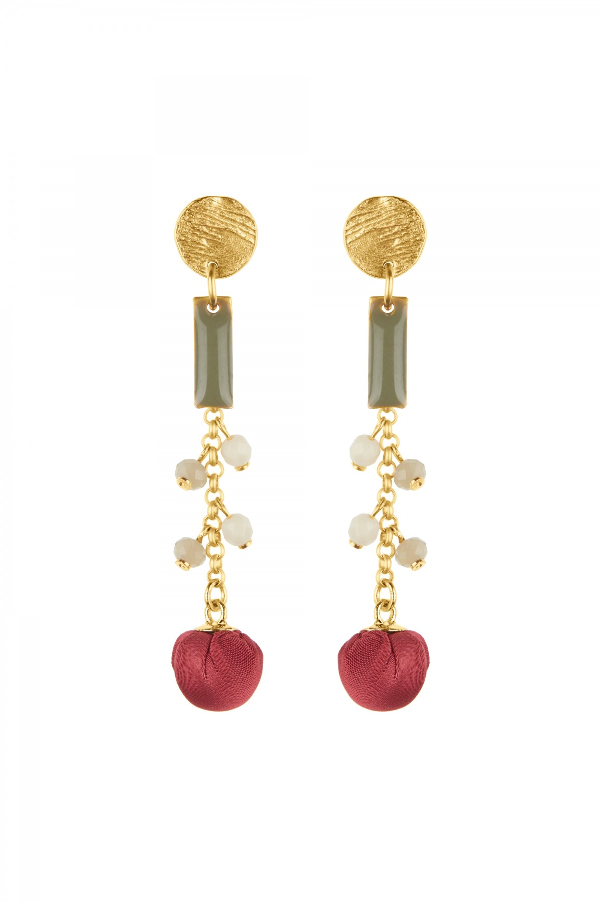 Raspberry Earrings
