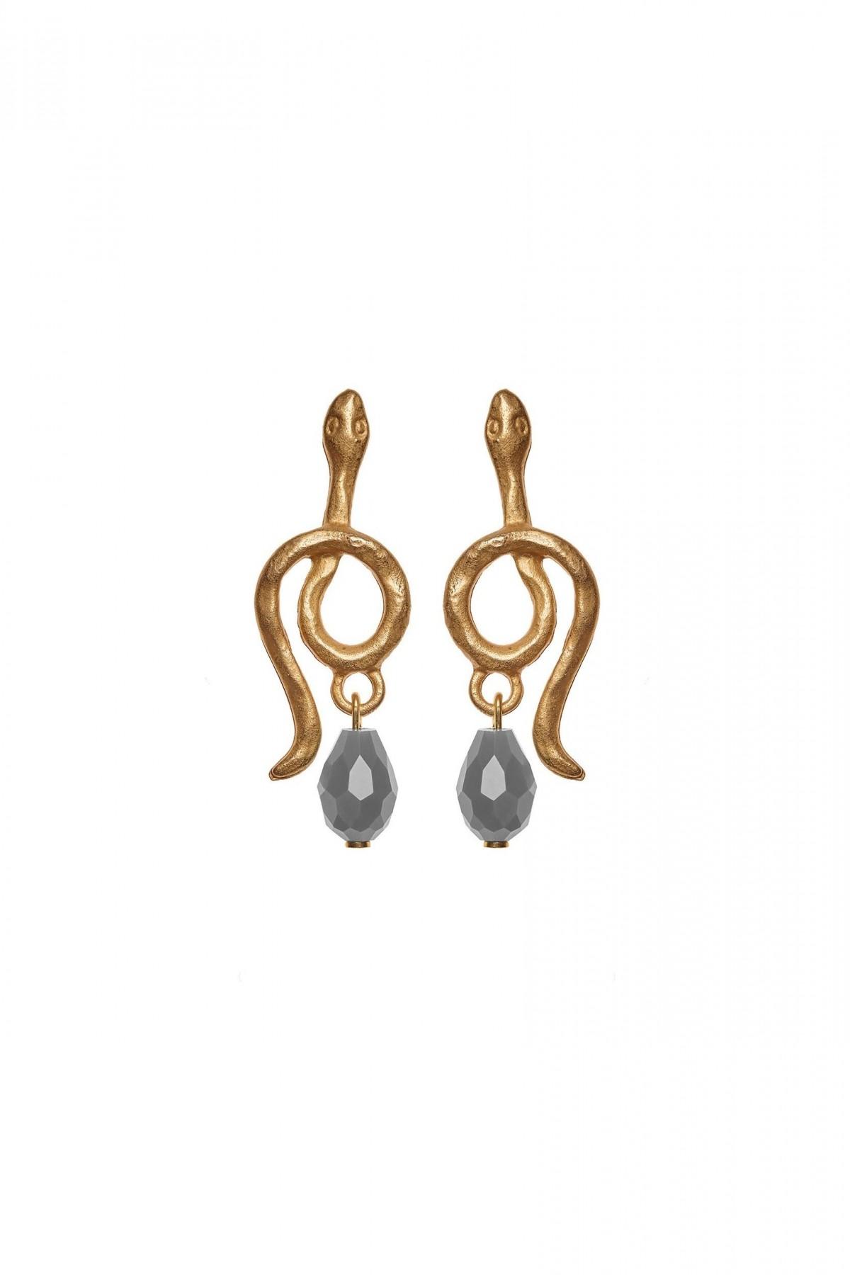 Golden Snake Earrings