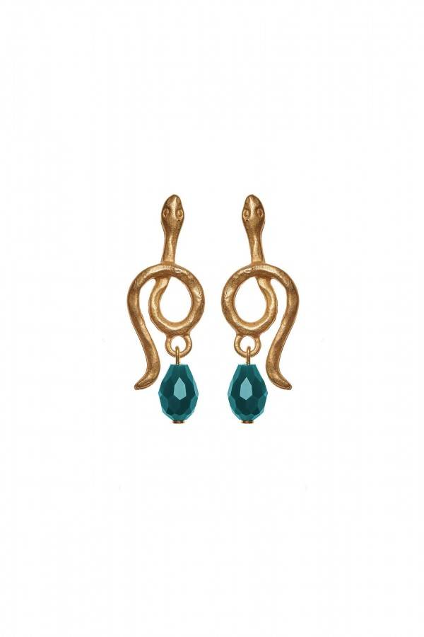 Golden Snake Earrings