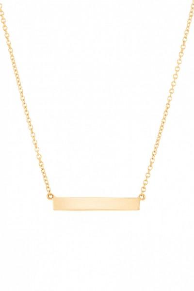 Horizontal Engravable Bar Necklace