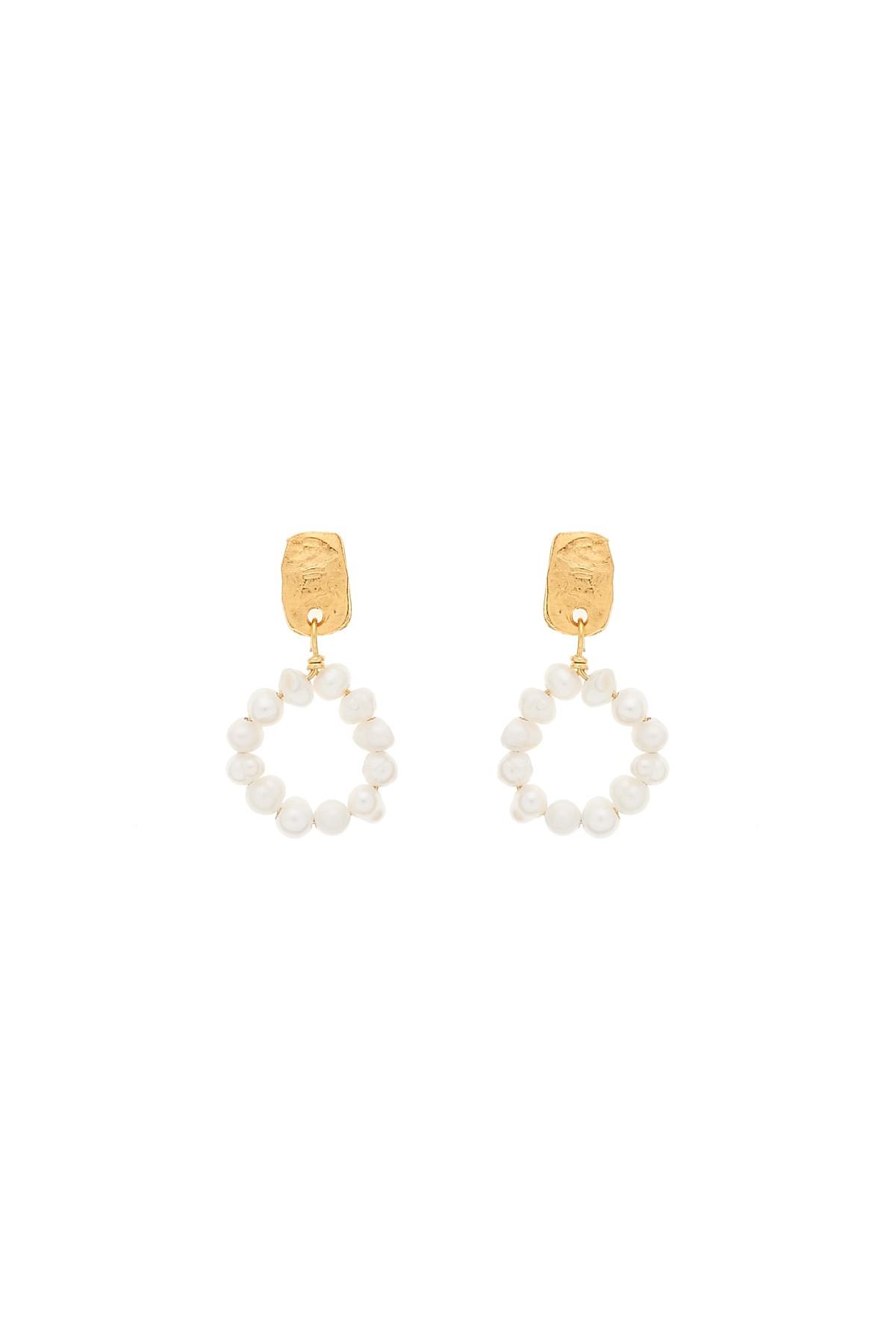 Pearly Circle Earrings