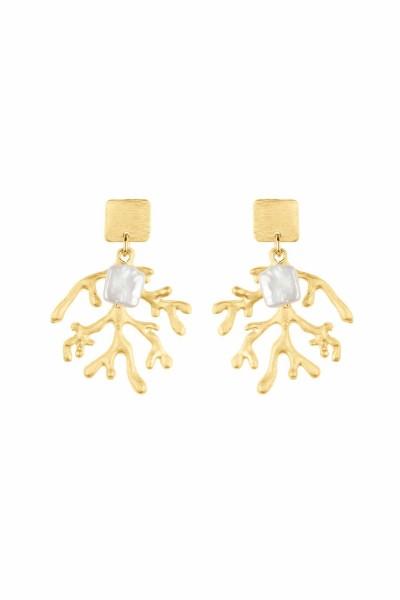 Seaweed Pearl Earrings