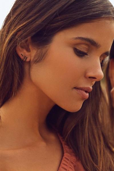Double Cuff Golden Earrings