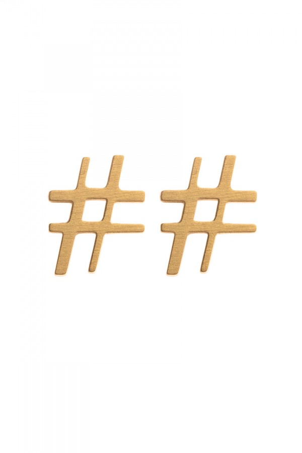Hashtag Earrings