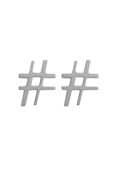 Brincos Hashtag