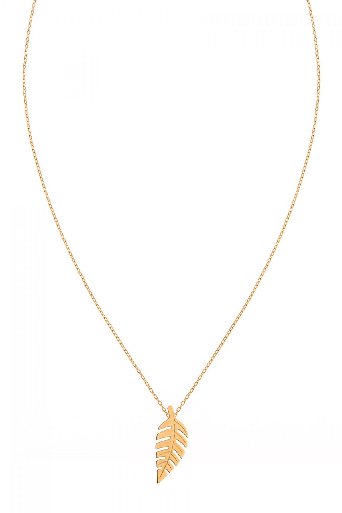 Bold Leaf Necklace