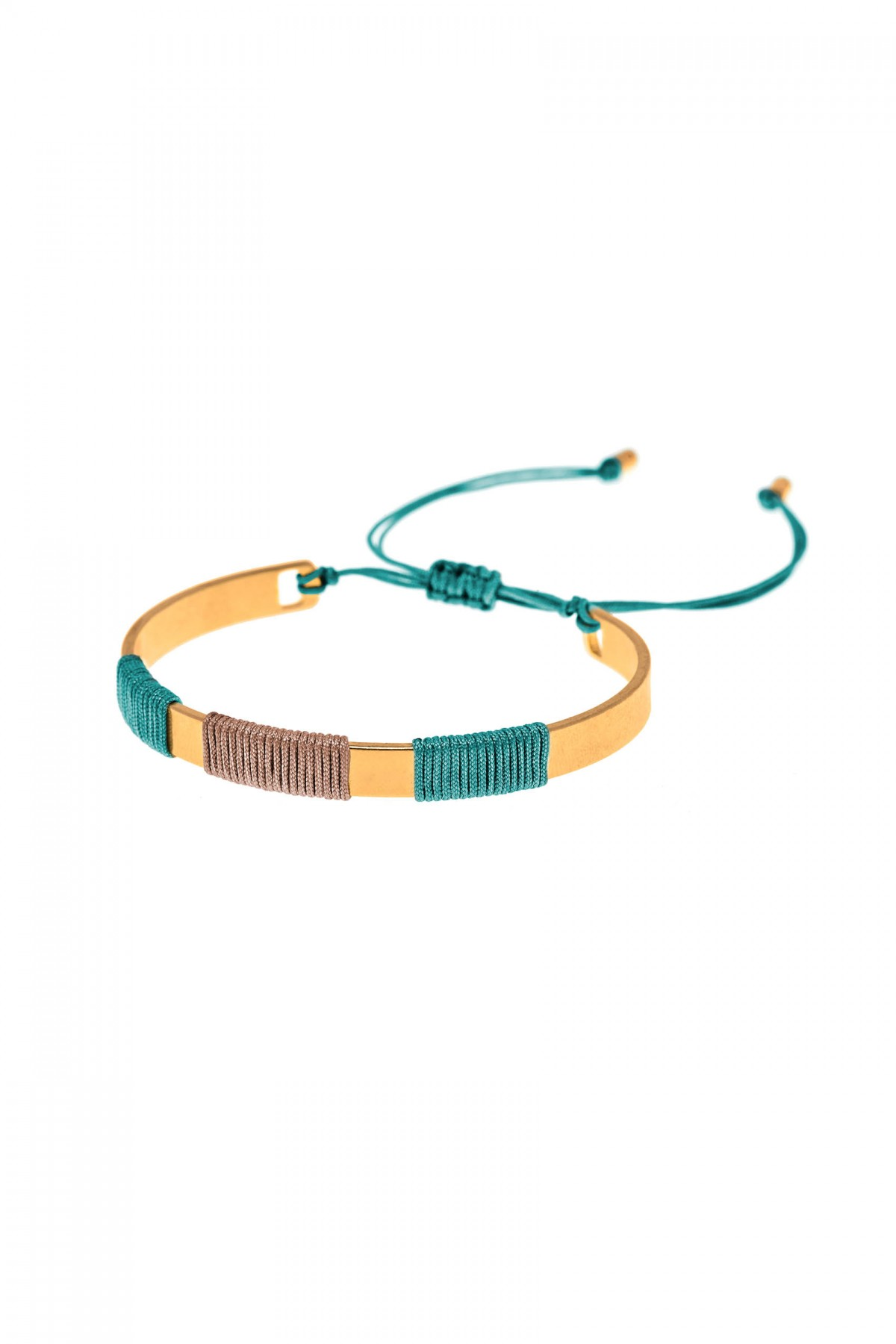Bracelet Golden Green Boho