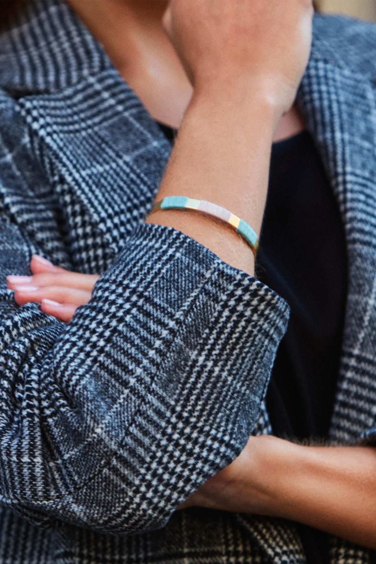 Golden Green Boho Bracelet