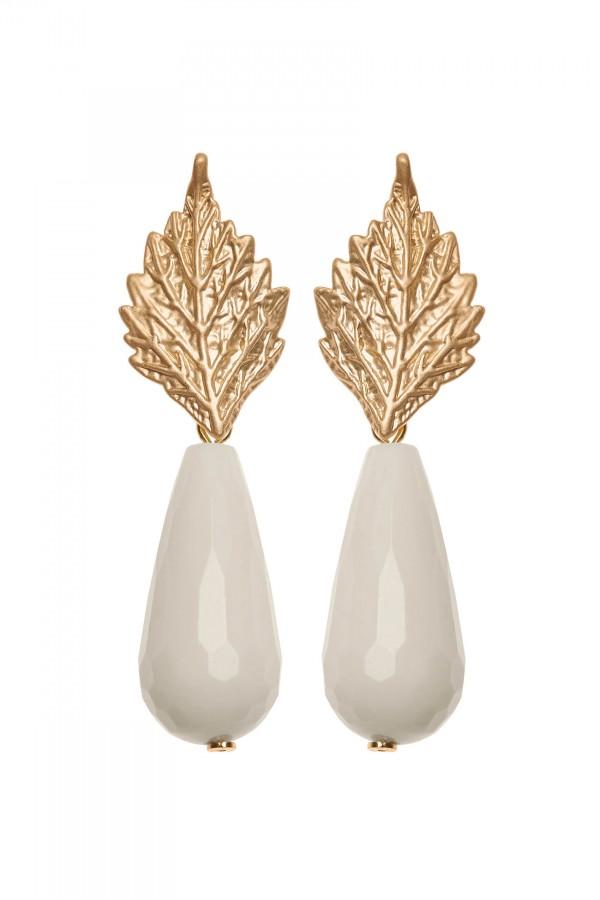 Marble Leaf Earrings