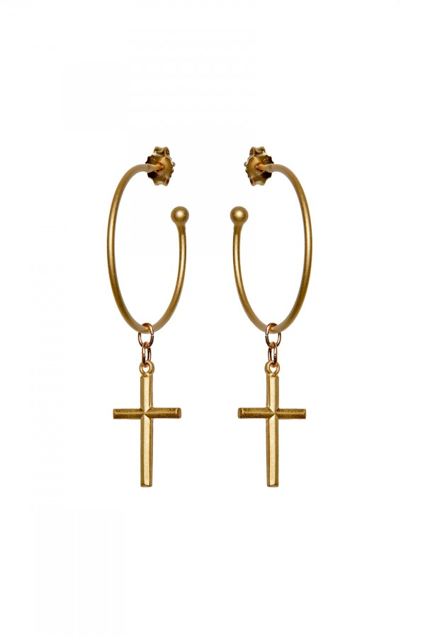 Hoop & Cross XL Earrings